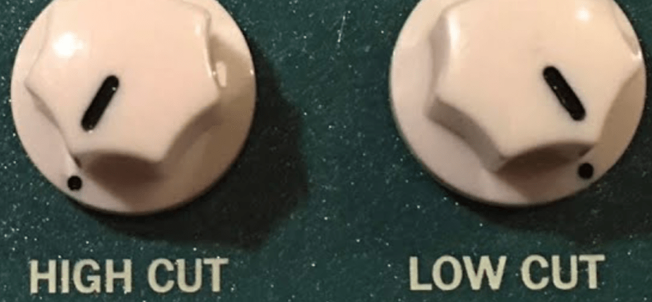 high cut low cut guitar pedal knob